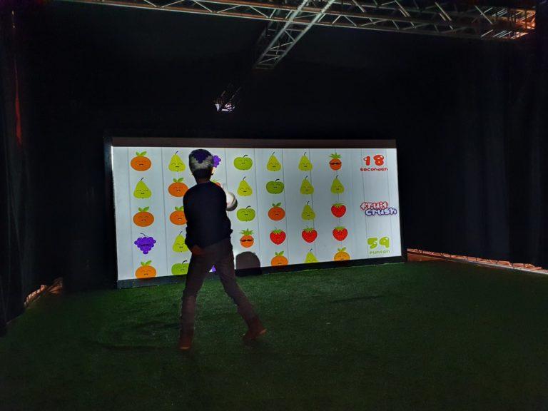Interactieve sportmuur X-Wall bedrijfsfeest, evenementen, beurzen